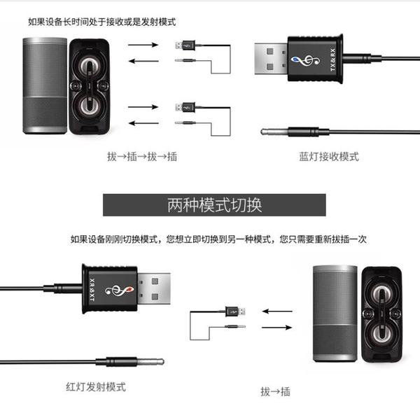 藍芽接收器 藍芽發射器接收器二合一5.0臺式電腦電視音頻3.5mm無線藍芽適配器 【米家科技】