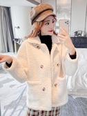 短版外套 羊羔毛外套2019冬季新款女裝韓版寬松大加絨加厚百搭洋氣上衣