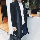 風衣外套-英倫時尚紳士品味中長版翻領男大衣73ip25【時尚巴黎】