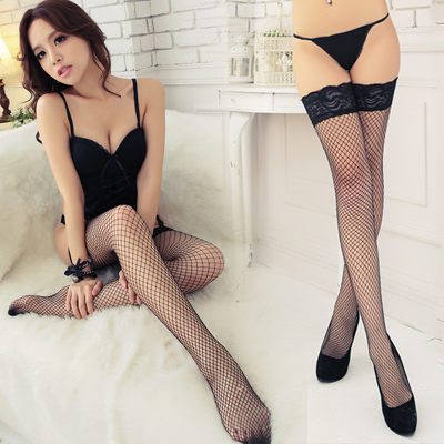 網襪- 防滑 大版(筒)網襪大腿襪-可吊帶大腿襪