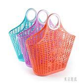 買菜的籃子手提籃大號軟塑料筐子廚房菜籃子超市購物籃收納筐xy2472『東京潮流』