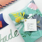 【BlueCat】夏季綠底水彩花禮物盒 包裝盒(5入)
