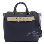 茱麗葉精品【全新現貨】BURBERRY 4076723 The Belt 束帶造型手提兩用包.深藍