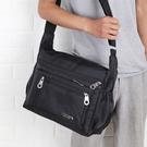 大容量側背包男士背包牛津布斜背包多隔層男包公文包旅行包電腦包