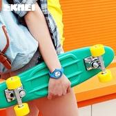 兒童手錶女孩防水學生可愛指針式石英手錶女學生韓版時尚簡約男錶  極有家