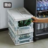 【日本霜山】工業風耐重摺疊置物收納箱-19L-2色可選(工業風 收納箱 整理箱)