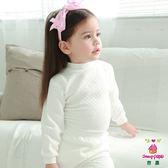 Anny pepe 兒童舒暖棉夾棉小立領長袖 白色 (90~150cm)_男女童均適用