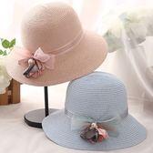 草帽-防曬海邊渡假時尚精美女漁夫帽3色73rp11[時尚巴黎]
