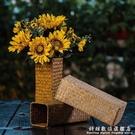 北歐向日葵假花裝飾塑料仿真花束客廳餐桌花...