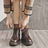 短靴馬丁靴新款2020秋季英倫風春秋單靴顯腳小ins潮秋冬女鞋短靴 雙11 伊蘿