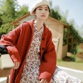 小個子森繫毛衣女文藝復古新款時尚網紅麻花針織開衫秋冬學生 當當衣閣