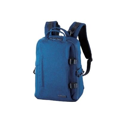ELECOM 帆布多功能質感後背包(L)-藍