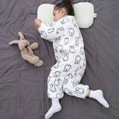 嬰兒睡袋秋冬款加厚寶寶分腿式小孩防踢被神器加絨法蘭絨兒童睡袋