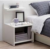 簡易床頭櫃置櫃小書櫃簡約現代床邊櫃迷你小櫃儲【快速出貨82折優惠】