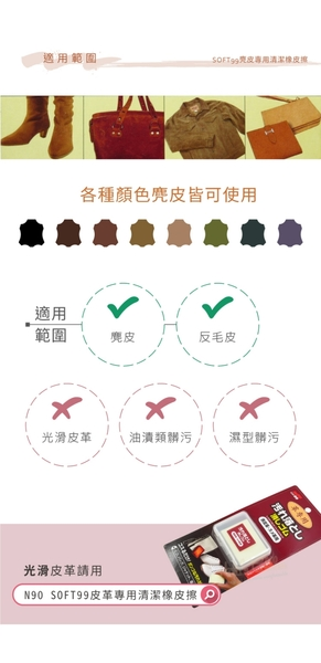 糊塗鞋匠 優質鞋材 K91 日本SOFT99麂皮專用清潔橡皮擦 1塊 麂皮橡皮擦 牛巴戈皮橡皮擦