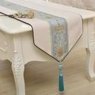 桌旗 新中式簡約大氣桌旗禪意中國風古典客廳餐桌茶幾蓋布臥室床旗定制 維多原創