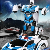 遙控車 感應變形遙控車兒童玩具機器人遙控汽車金剛無線賽車男孩生日禮物【快速出貨八折鉅惠】