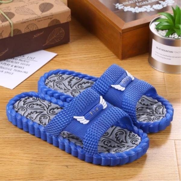韓版家居拖鞋男夏室內防滑家用厚底一字拖男女軟底舒適情侶涼拖鞋新年禮物
