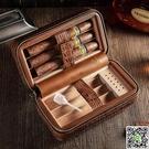 雪茄盒 COHIBA高希霸便攜式真皮雪茄盒保濕盒 內襯雪鬆木六支裝雪茄煙盒 MKS小宅女