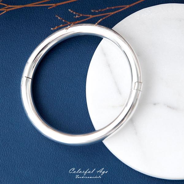 手鍊 925純銀素面7mm圓型手環 抗過敏材質【NPA81】簡約概念