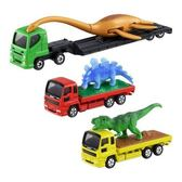 〔小禮堂〕TOMICA小汽車 恐龍搬運卡車組《3入.綠黃紅》公仔.模型.玩具 4904810-11401