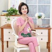 夏季女裝棉麻短袖兩件套裝寬鬆大碼媽媽裝LJ6384『科炫3C』