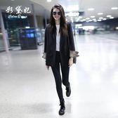 西裝外套 彩黛妃春夏新款韓版修身顯瘦長袖小西裝外套休閒時尚西服女 免運