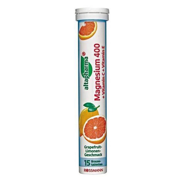 德國ROSSMANN 發泡錠-葡萄柚萊姆15顆/管【德潮購】