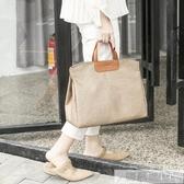 韓版公文包單肩斜挎書袋文件袋氣質時尚A4資料袋手提女文件包 韓慕精品