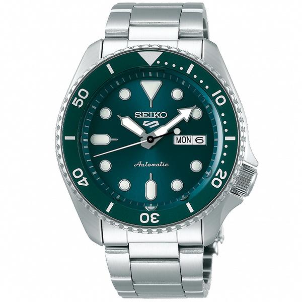 【台南 時代鐘錶 SEIKO】精工 5 Sports 系列機械錶 SRPD61K1@4R36-07G0M 綠/銀 42.5mm