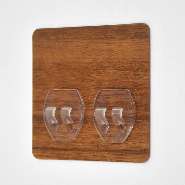 正方形雙勾貼片 超級黏膠無痕掛勾 易立家生活館 舒適家企業社 補充替換用 不需輔助貼