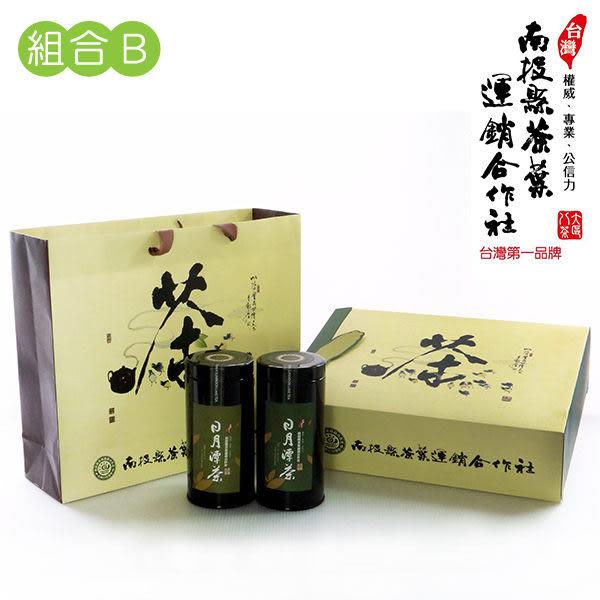 日月潭茶 杉林溪茶100gX1+頂級紅茶75gX1 (嚴選禮盒B)