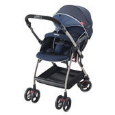 Aprica愛普力卡 Optia新視野 四輪自動定位導向型嬰幼兒手推車(優雅藍)
