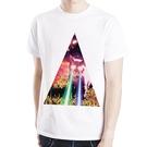 Triangle Cat galaxy短袖T恤-白色 設計插畫潮流相片照片藝術