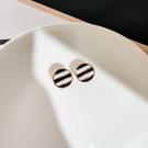 耳環 可愛 幾何 條紋 圓形 甜美 氣質 耳釘 耳環 【DD1809029】 BOBI  3/26