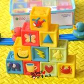 美國寶寶捏捏叫兒童軟膠積木嬰兒軟積木早教益智玩具10個裝