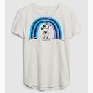Gap女童可撥動亮片圓領短袖T恤577855-石楠灰色