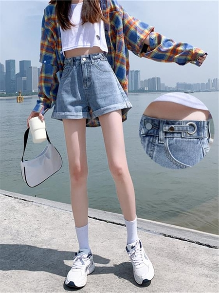 高腰牛仔短褲女超高腰顯瘦夏季寬鬆2021年新款夏裝春款女裝潮外穿 露露日記
