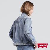 Levis 女款 牛仔外套 / Boyfriend 寬鬆版型 / 淺色水洗 / Lyocell天然環保纖維
