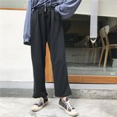 春季女裝百搭寬鬆休閒褲韓國新品素面鬆緊腰寬管褲長褲運動褲女潮 交換禮物