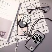 Iphone7手機殼-山茶花造型可當鏡子蘋果手機保護套2色73pp68【時尚巴黎】