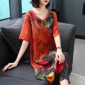 杭州反季真絲連身裙女新款大牌清倉夏季桑蠶絲 伊蒂斯女裝