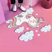 3D立體地貼 門口地貼網紅ins地板貼創意裝飾地板防滑地貼紙自粘門貼畫TW【快速出貨八折下殺】