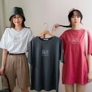 MIUSTAR 24/7方框膠印棉質上衣(共3色)【NJ0749】預購