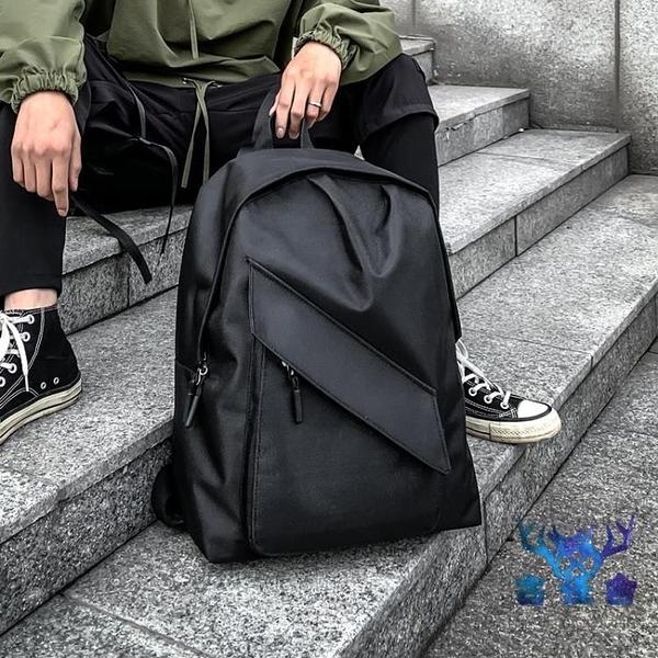 後背包雙肩包書包男女韓版工裝電腦時尚潮流個性創意【古怪舍】