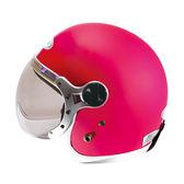 【東門城】ZEUS ZS383A 素色(消光桃/白邊) 3/4罩 日系飛行帽 復古安全帽