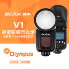 【送蔡司50入】神牛 V1 公司貨 兩年保固 For Olympus 圓頭燈頭 LED輔助燈 鋰電池供電 Godox