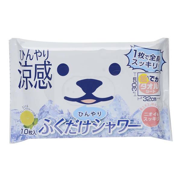 白熊涼感大片濕紙巾-柚香薄荷【康是美】