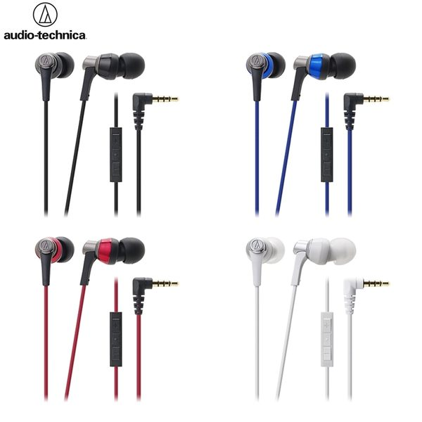 我愛買#鐵三角Audio-Technica線控耳麥ATH-CKR3i耳道式耳機apple手機iPhone iPod iPad 6 6s 8 5s 4s air i6 3