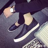 樂福鞋 夏季新款帆布鞋男一腳蹬懶人鞋布鞋百搭板鞋休閒樂福鞋男鞋子 aj2930『美鞋公社』